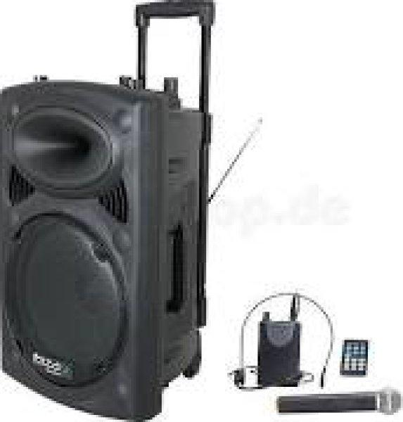Ibiza Sound Port15 Vhf-bt Mobile Pa Dj Beschallungsanlage Mit Viel